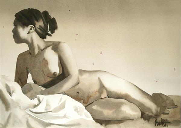 'Reclining Nude', No 2. by Lee Stewart