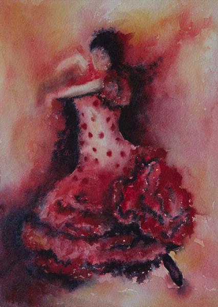 Flamenco #1 by Ruth Archer