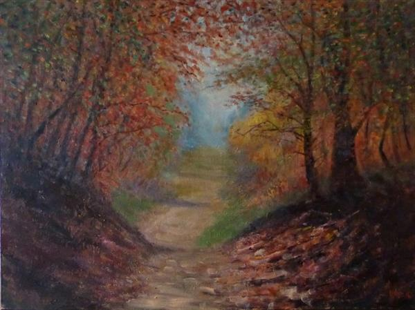 Autumn Path by David Moore