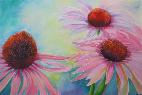Captivating Cone Flowers by Maureen Greenwood
