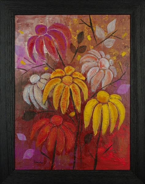 Autumnal Flowers by Teodora Totorean