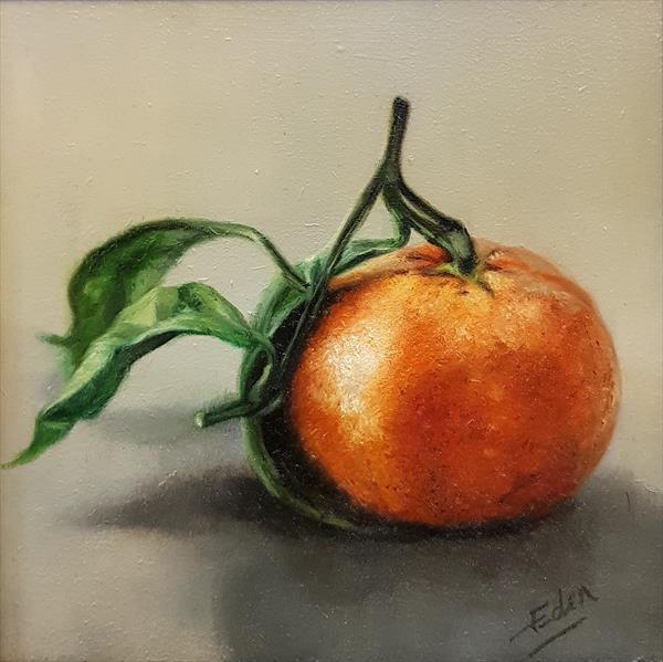 Satsuma and Leaves by Sarah Eden
