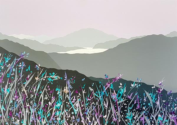 Loughrigg Fell across Grasmere, Lake District by Sam Martin