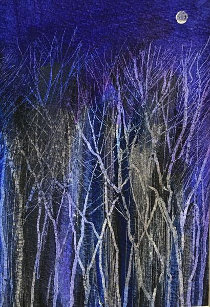 Midnight in the Blue Wood  by Sarah Gill