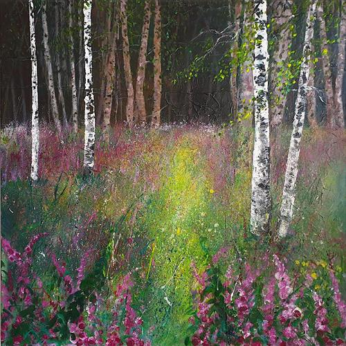 Foxglove Birch tree clearing by Teresa Tanner