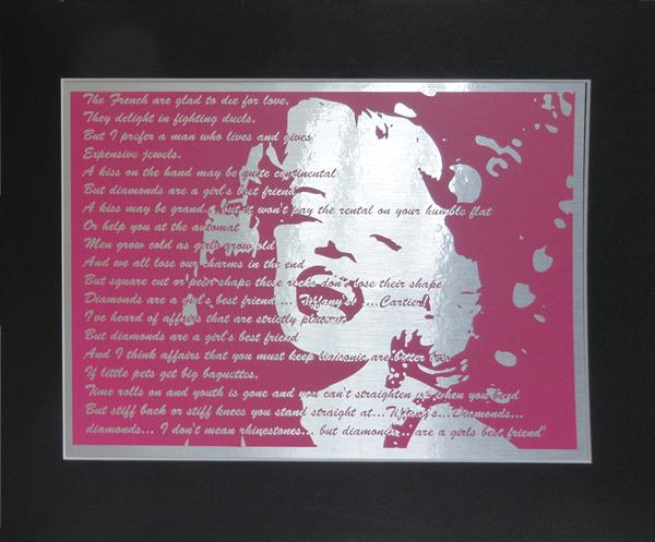 Marilyn Monroe - Diamonds by Sue Rowe