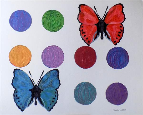 Butterfly and Dot Painting
