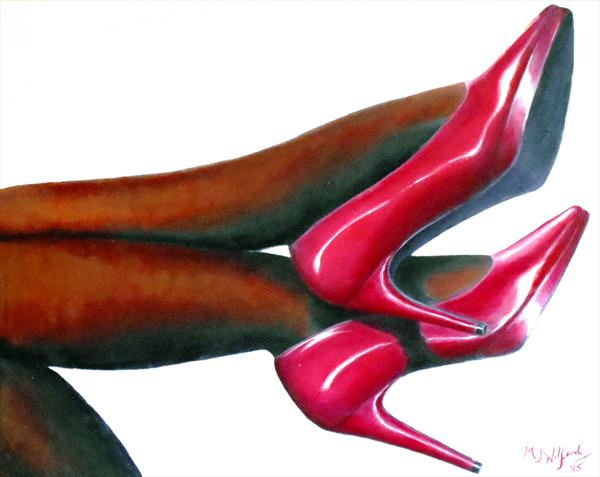 Favourite Red Shoes by Marion Wilford