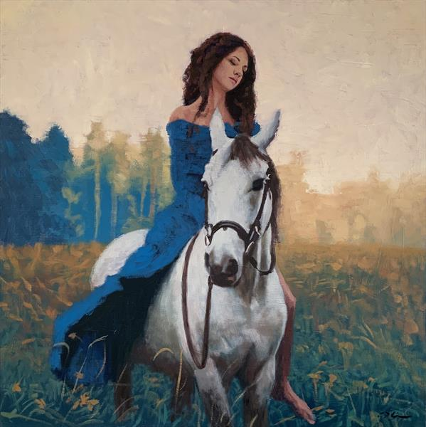 Girl on a pale horse  by Christopher Gill