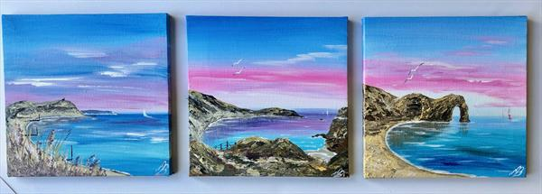 Set of 3 Dorset Coastal Views