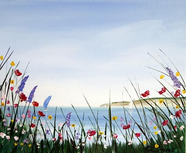 OVERCLIFF FLOWERS by Graham Evans