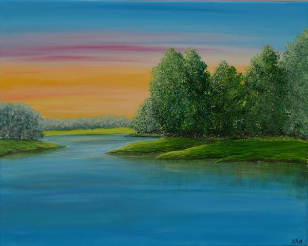 Tranquil lake by Jacqueline Moore
