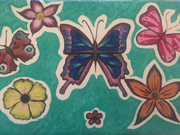 Bright butterfly's  by Katy Louise Wainwright