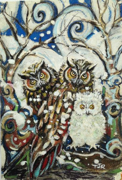The Owl Family's Snowy Day by Theresa  Robinson