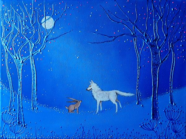 The Wolf and the Hare by Angie Livingstone