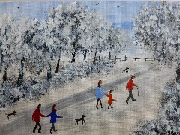 Family Winter Walk by Stephen Casey