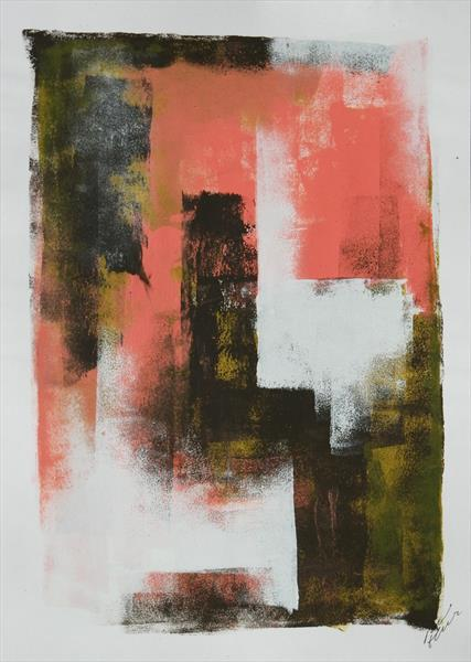 Brown Pink Architect - Fine Art on Paper by Ronald Hunter