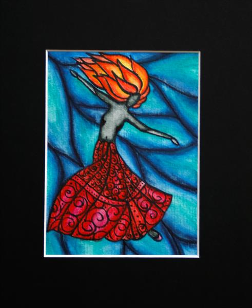 Dancing lady 2 by Fiona Robinson