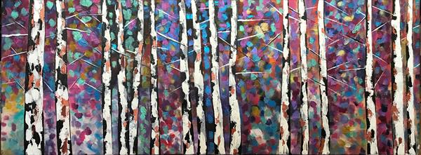 Birch Tree With Mix Leaves