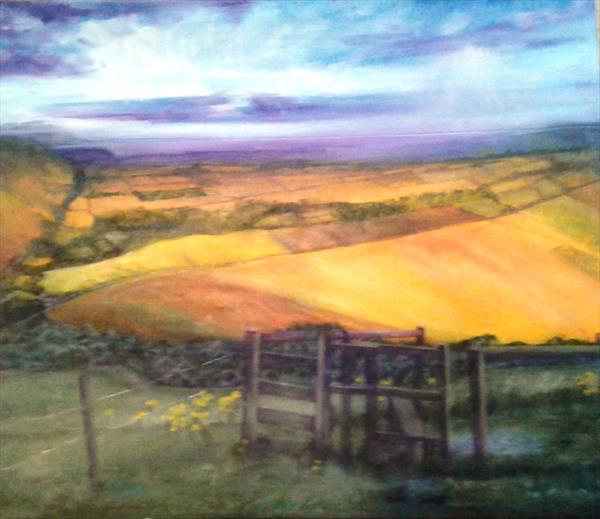 Late afternoon on the East Sussex Downs by Helena Manchip