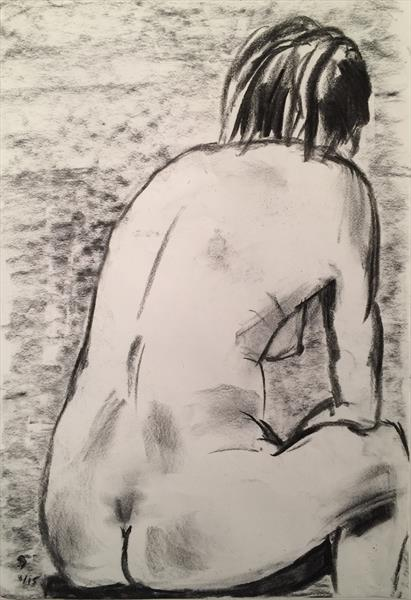 Figure Study from Life Class at St Ives. by Simon Farnell