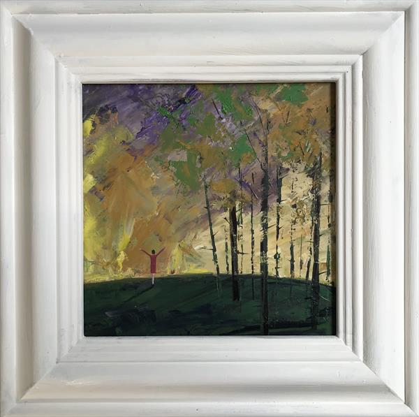 Welcoming the new day ( framed original oil ) by Sarah Gill