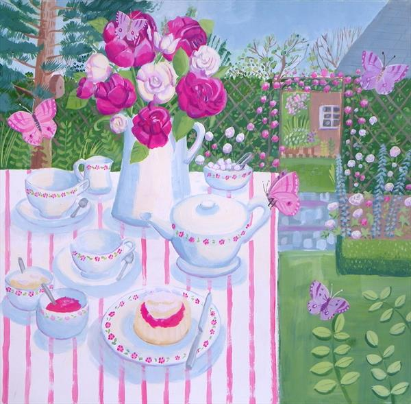 Cream Tea by Mary Stubberfield
