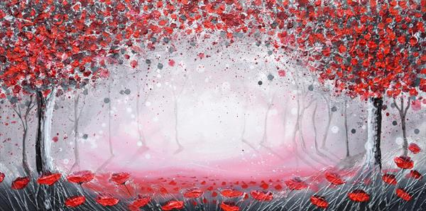 Enchanted Red Forest by Amanda Dagg