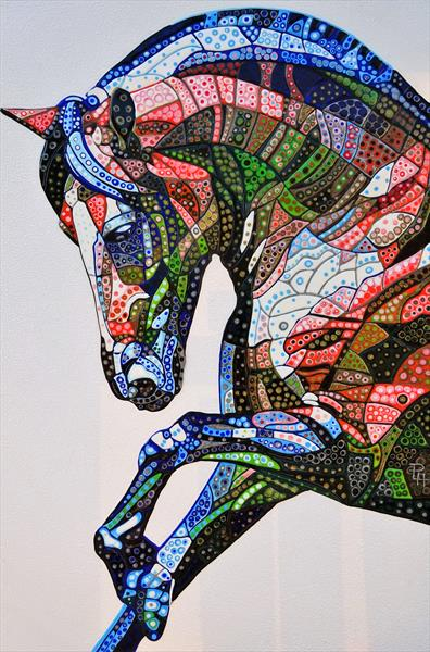 Abstract Horse 12 (Sculptural) by Paula Horsley
