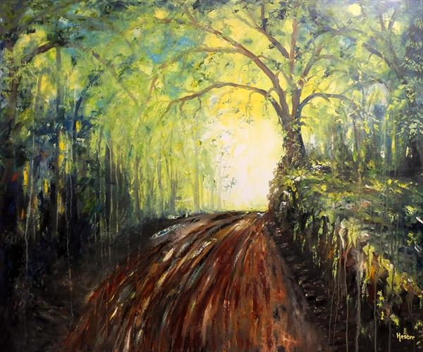 Capture The Beauty Of A Woodland (Large Contemporary Art) by Hester Coetzee