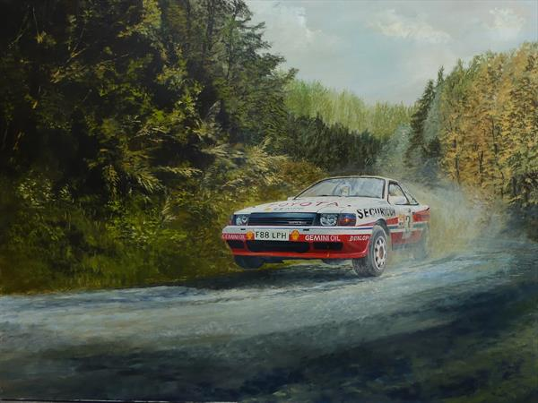 Rallying Toyota 1989 by Philip Boville