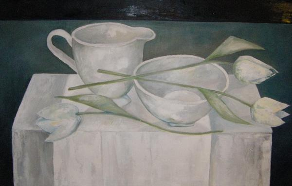 White Tulips by Gill Thompson
