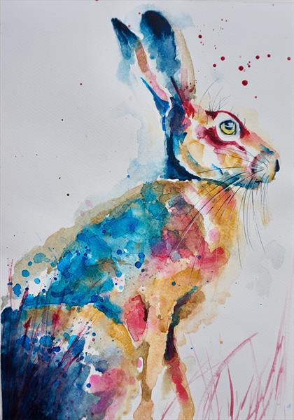 Hare loves Fuschia No 2  by Anna Pawlyszyn