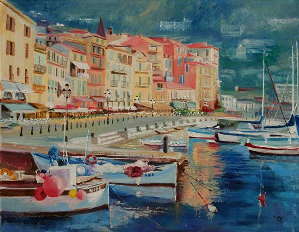 Harbor at Nice by Yary Dluhos