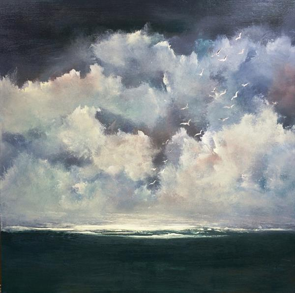 Almost Heaven ~ Impressionist Seascape on Canvas 20
