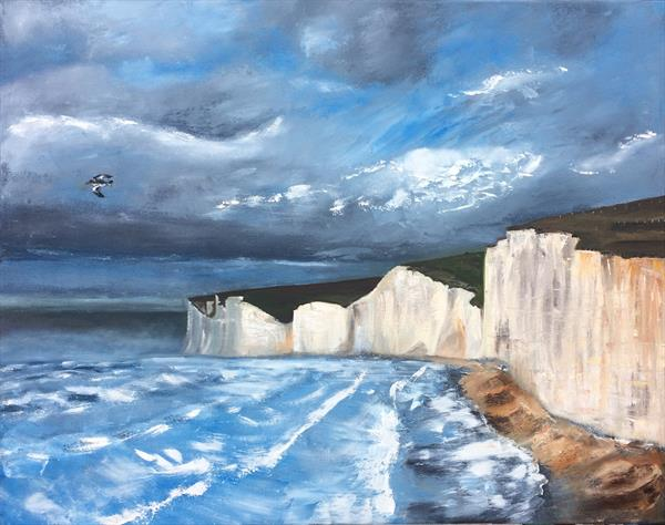 White Cliffs of Dover by Ira Whittaker