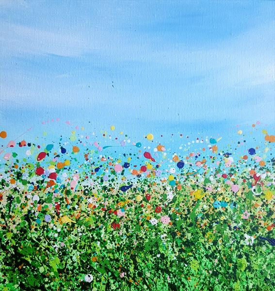 Summer Confetti Meadows -Reserved for Julie by Lucy Moore