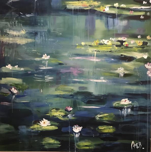 Water Lilies by Abby  Browne