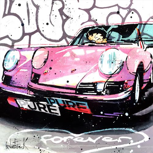 Porsche 911 forever, pink version by Patrick Cornee