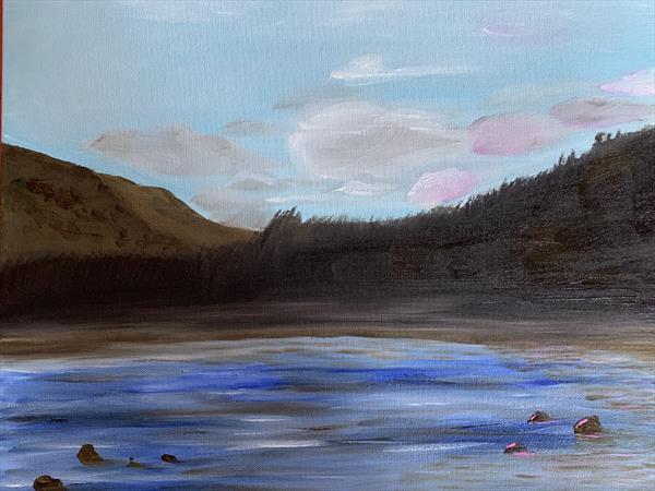 Lochs and rocks by Clare Riley