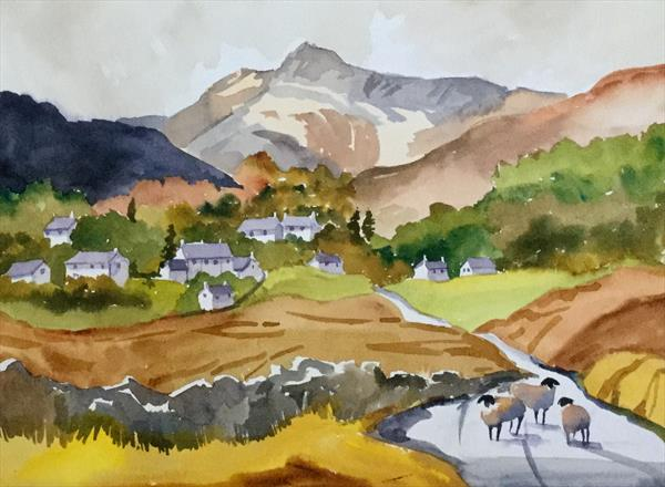 ELTERWATER in the LANGDALES , CUMBRIA by Susan Shaw