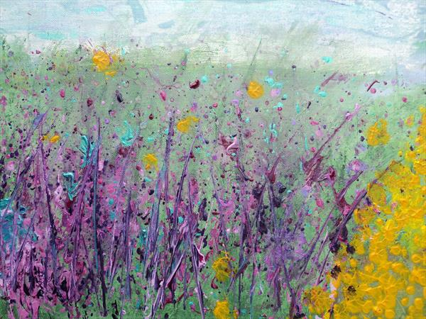 Fields of gold and purple by Shelfie Clements