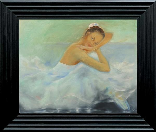 Ballerina leaning on her arm by Susana Zarate