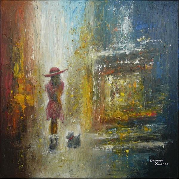 Same Old Street On A Brand New Day III by Kalpana Soanes