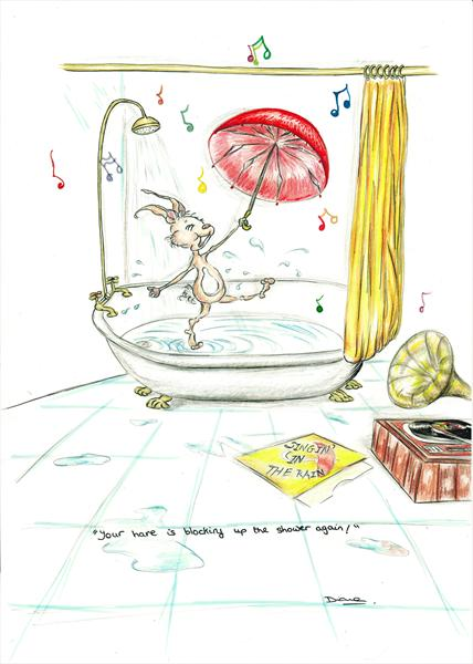 Your Hare Is Blocking Up the Shower Again!