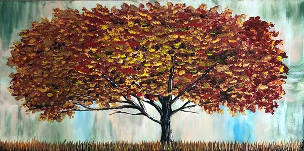 Magnificent Autumn Tree by Aisha Haider