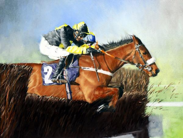 Steeplechaser at Wetherby by Brian Halton
