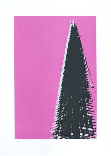 The Shard London (pink) by Kathryn Edwards