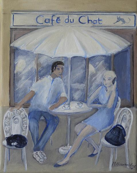 Cafe du Chat by Maureen Hawkridge