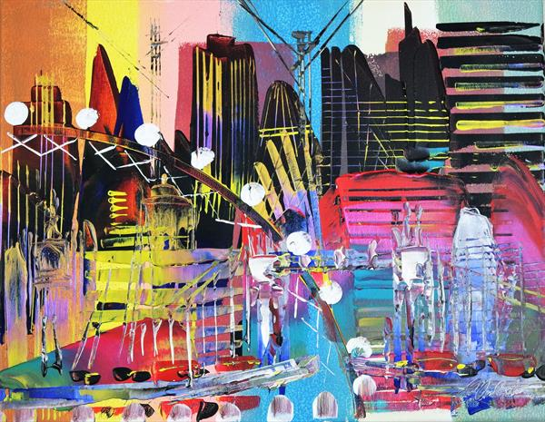London Cityscape Abstract 709 by Eraclis Aristidou